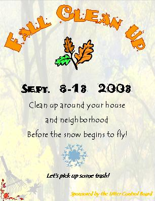 Fall Clean up info