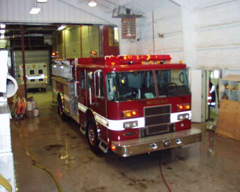 Engine 7 in the Fire Hall